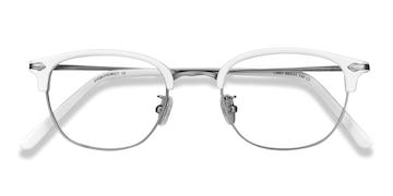White Links -  Vintage Metal Eyeglasses