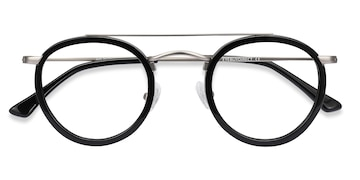 Black Silver Architect -  Acetate Eyeglasses