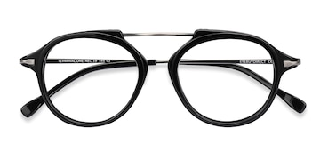 Black Gunmetal Terminal One -  Acetate Eyeglasses