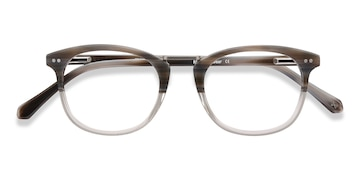 Gray Striped Era -  Designer Acetate Eyeglasses