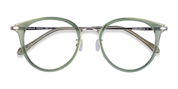 Green Hollie -  Colorful Metal Eyeglasses