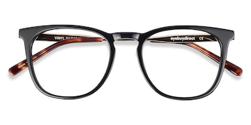 Black Vinyl -  Acetate Eyeglasses