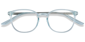 Clear Blue Spoken -  Metal Eyeglasses