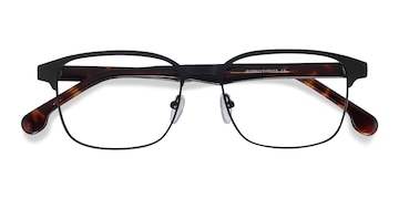 Black Meta -  Acetate Eyeglasses