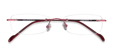Cinnamon Red Lithe -  Metal Eyeglasses