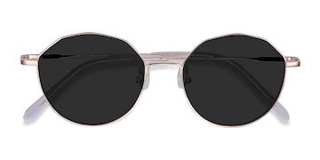 Rose Gold Village -  Vintage Metal Sunglasses