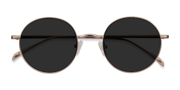Rose Gold Sun Synapse -  Metal Sunglasses