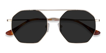 Golden Sun Eight -  Vintage Metal Sunglasses