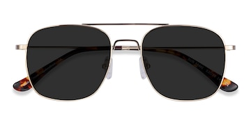 Golden Sun Fame -  Vintage Metal Sunglasses