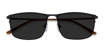 Navy Sun Typha -  Metal Sunglasses