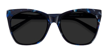 Blue Floral Vamp -  Acetate Sunglasses