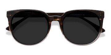 Brown Striped Queen -  Acetate Sunglasses