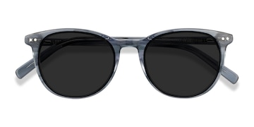 Clear Blue Rhythm -  Acetate Sunglasses