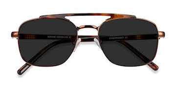 Tortoise Brown Decode -  Vintage Acetate Sunglasses