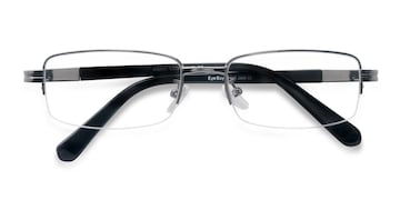 Gunmetal Above -  Metal Eyeglasses