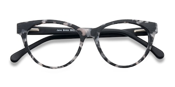 Gray Tortoise Jane Birkin -  Fashion Wood Texture Eyeglasses