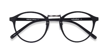 Matte Black/Gunmetal Chillax -  Fashion Metal Eyeglasses