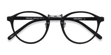 Matte Black/Silver Chillax -  Fashion Plastic Eyeglasses