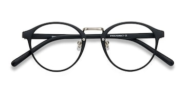 Matte Black/Silver Small Chillax -  Fashion Plastic Eyeglasses