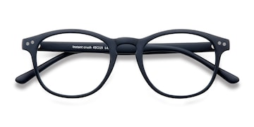 Matte Navy Instant Crush -  Fashion Plastic Eyeglasses