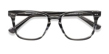 Gray Striped  Samson -  Acetate Eyeglasses