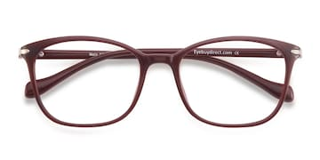 Dark Red Nola -  Plastic Eyeglasses