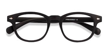 Matte Black Atomic -  Vintage Plastic Eyeglasses