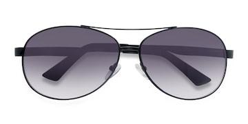 Black Santorini -  Vintage Metal Sunglasses
