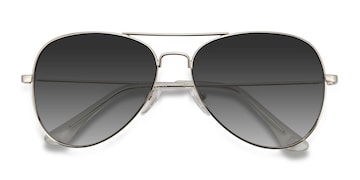 Silver Good vibrations -  Vintage Metal Sunglasses