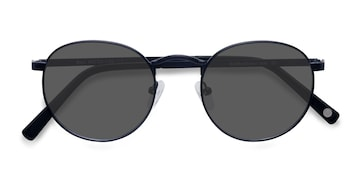 Navy  Rex -  Metal Sunglasses