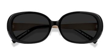 Black Lauren -  Vintage Plastic Sunglasses