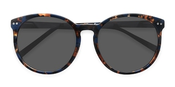 Blue Floral Vapor -  Acetate Sunglasses