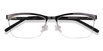 Black Rally -  Metal Eyeglasses