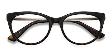 Tortoise Her -  Vintage Acetate Eyeglasses