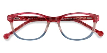 Pink Striped Nifty -  Acetate Eyeglasses