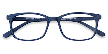 Navy Striped Botanist -  Acetate Eyeglasses