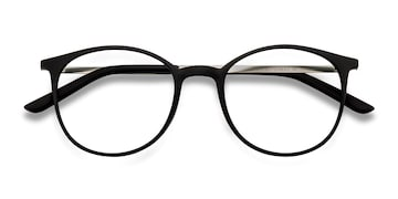 Black Tangent -  Metal Eyeglasses