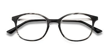 Black striped Villa -  Metal Eyeglasses