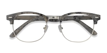 Speckled Gray Roots -  Vintage Metal Eyeglasses