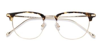 Tortoise Golden Relive -  Acetate Eyeglasses