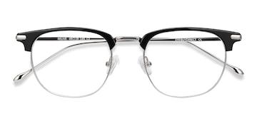Black Silver Relive -  Acetate Eyeglasses