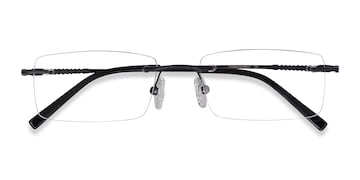 Black Earl -  Metal Eyeglasses