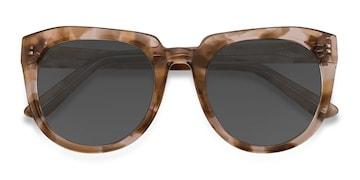 Brown Floral Laohu -  Vintage Acetate Sunglasses