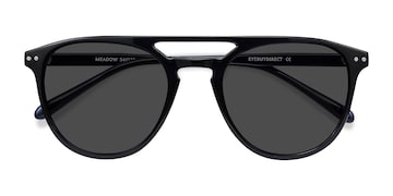 Navy Meadow -  Plastic Sunglasses