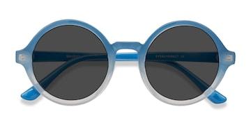 Blue Clear Solstice -  Plastic Sunglasses