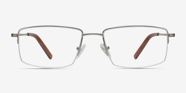 System Silver Metal Eyeglass Frames