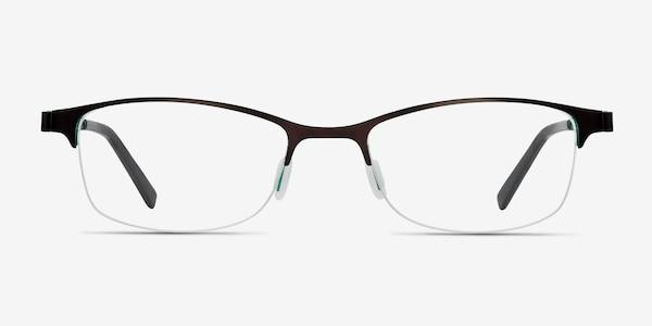 Pearl Black Metal Eyeglass Frames