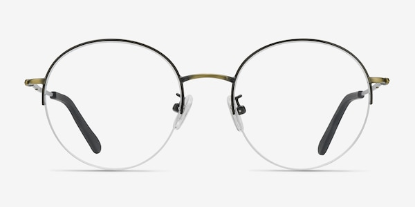 Albee Black Bronze Metal Eyeglass Frames