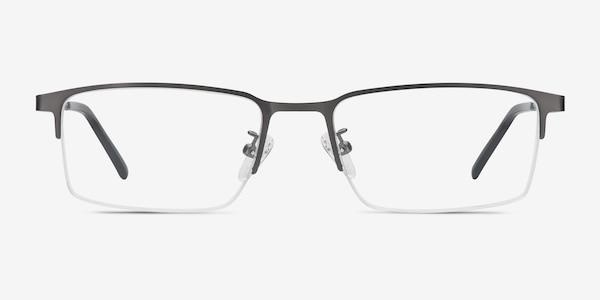 Vienna Gray Metal Eyeglass Frames