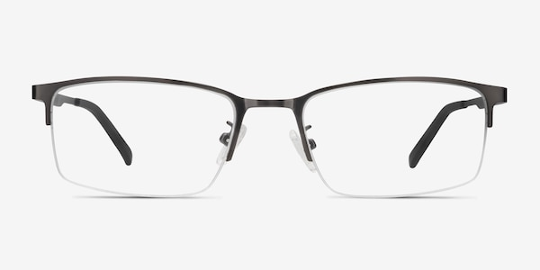 Bezel Dark Charcoal Metal Eyeglass Frames